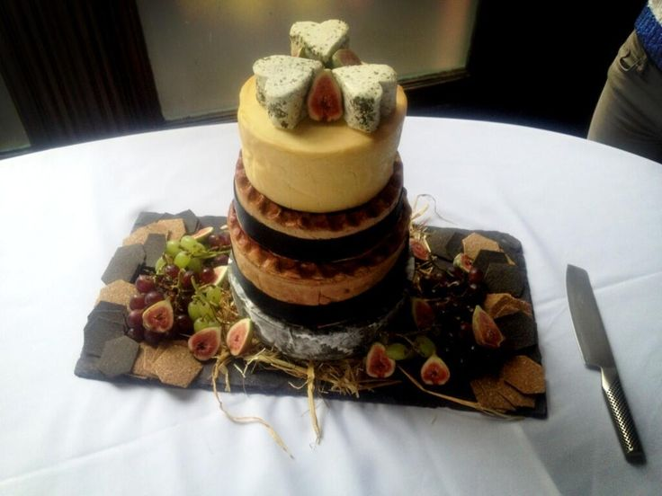 @Jaymartinwallis Cornish yarg, hand raised game pie, ham and leek pie, ribblesdale & roule wedding cake!