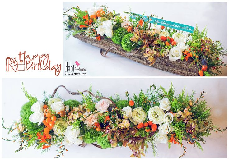 Habi flower, Habi studio, flower arrangement, birthday flower, Habi design, rustic flower, vintaged flower