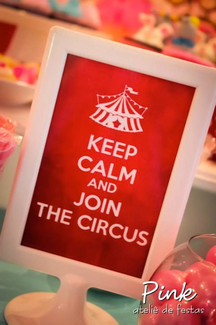 Girly Circus themed party with Lots of Really Cute Ideas via Kara's Party Ideas | Cake, decor, cupcakes, favors, printables, games,...