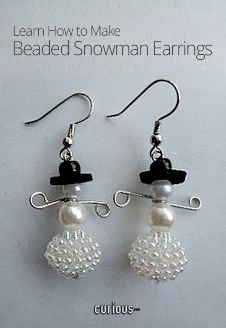 Learn how to make your own winter wonderland that can dangle from your earlobes this holiday season!