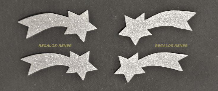 estrellas fugaces dorado y plateado