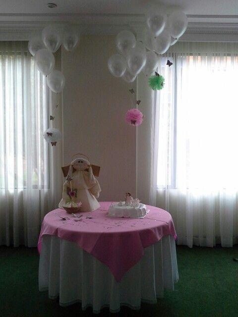 Decoracion mesa torta.