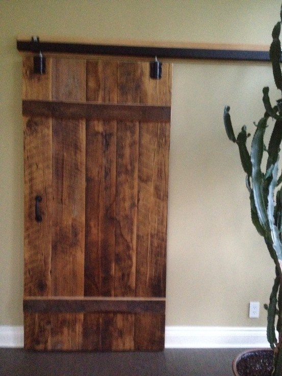 Barn Board Sliding Doors Bathroom Pinterest