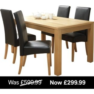 Westport Dining Table 4 Chairs From Homebasecouk