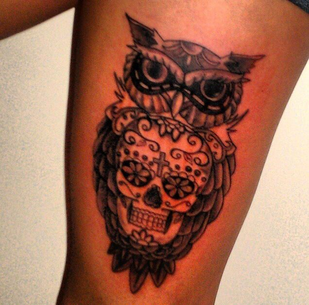 99 best images about Sugar skulls and owls preferbly ...