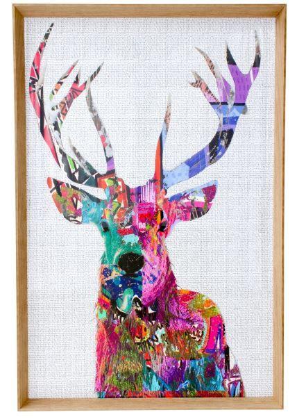 Dandy Deer Elite Pink Framed Print