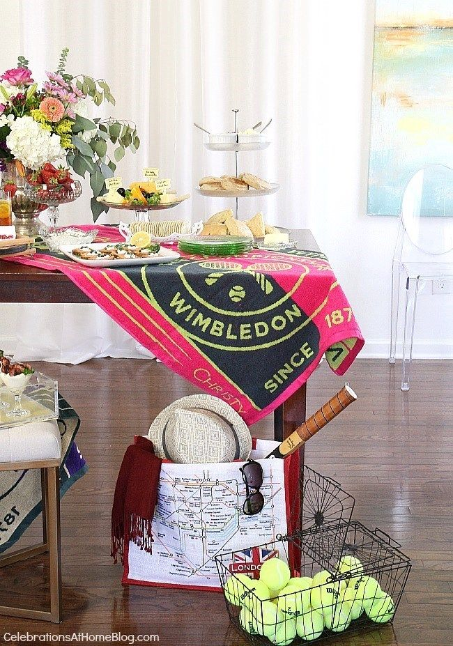 How to host a Wimbledon brunch party. Over 20 ideas, tips, and recipes.