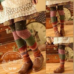 "BUY IT NOW! NEW Stretch Cotton Knit Patchwork Leggings Waist 24-40"" Length 34""  | eBay"
