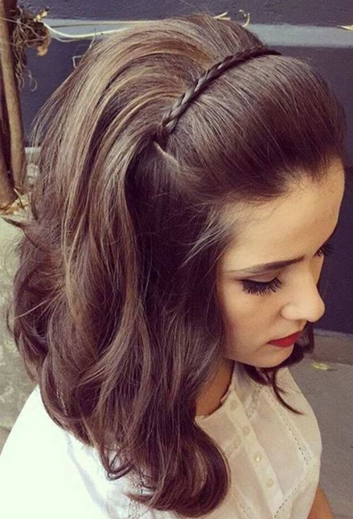 Pretty Prom Hairstyles 2018 for Medium Hair