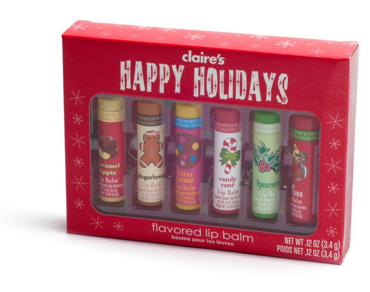 Lip Balm Christmas set $12 from Claire's | Stocking ...