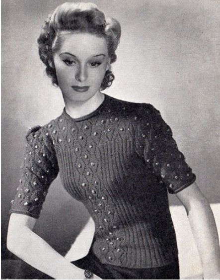 1940 Knitting Patterns Free : 17 Best images about nifty fifties on Pinterest Vintage knitting, Patterns ...