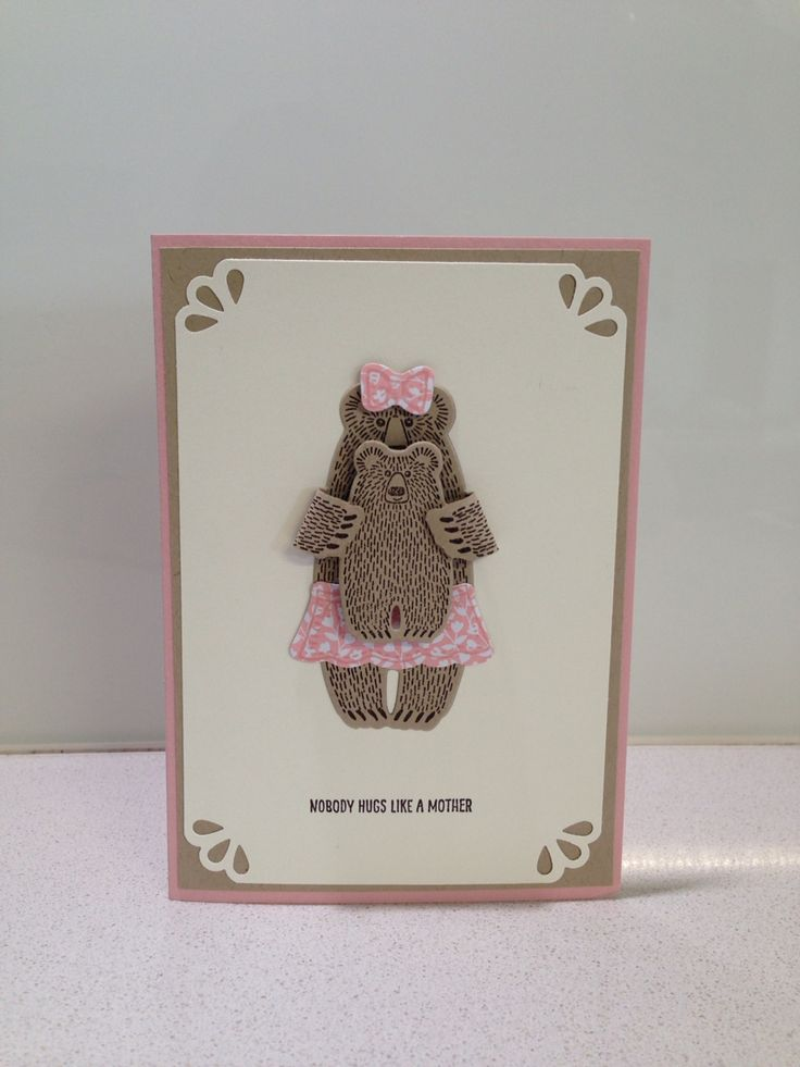 Stampin Up Bear Hugs in blushing bride, crumb cake, very vanilla
