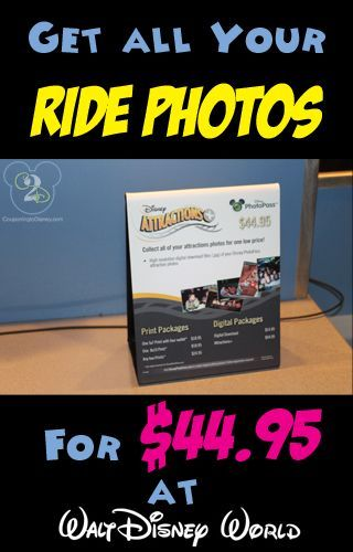 Get all your Disney World Ride Photos for $44.95!