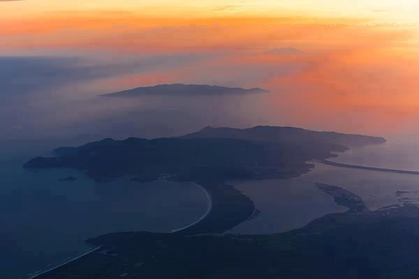 Sunset over the Argentario Peninsula & Orbetello Lagoon
