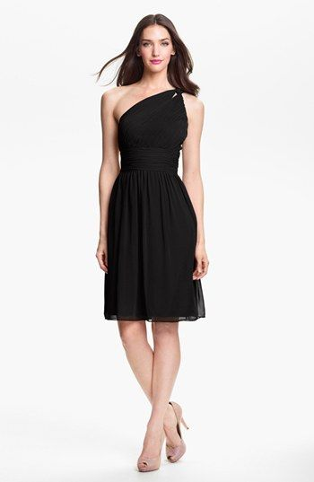 Bridesmaid dress in Corabell-Donna Morgan 'Rhea' One Shoulder Chiffon Dress available at #Nordstrom