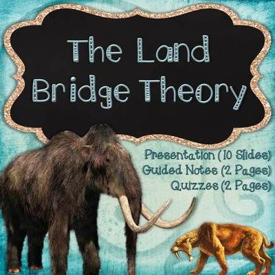 Land Bridge Theory Bundle from Tick-Tock Teach! on TeachersNotebook.com -  (16 pages)  - Land Bridge Theory Presentation & Guided Notes  Content Covered:  The spread of the Native American populations through the Landbridge Theory.