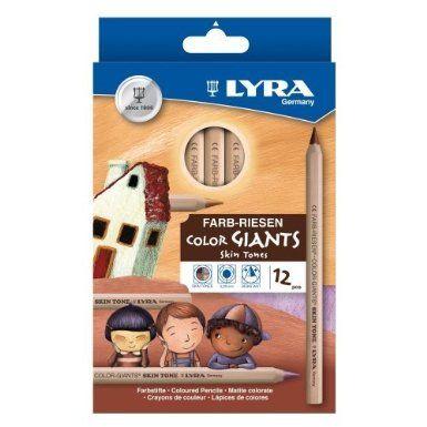 Lyra 3931124 Farb-Riese Skin Tones Etui K12 Kartonetui mit 12 StÃ1/4ck: Amazon.de: Spielzeug