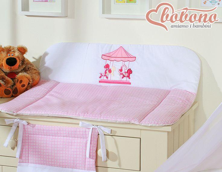 """Pink changing mat """"Carousel"""" / Bobono"""