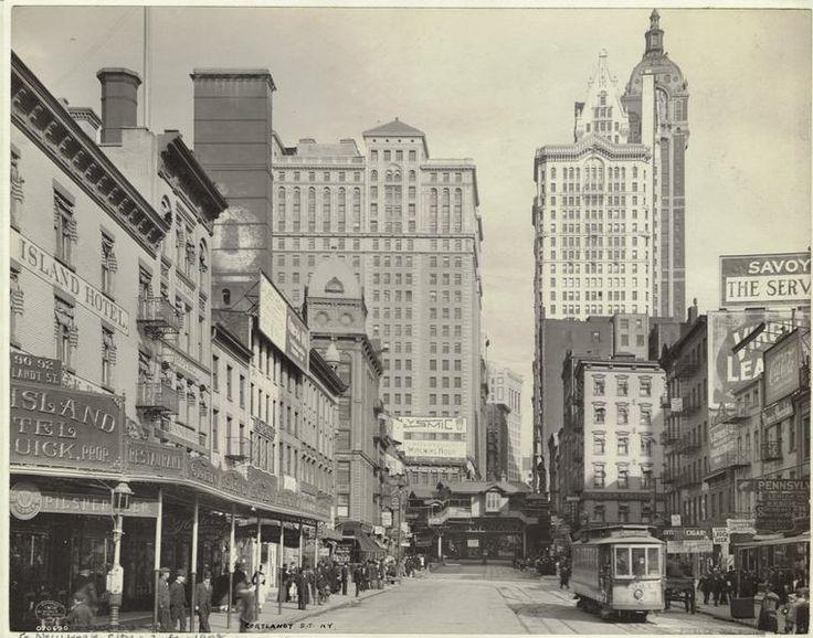 Cortlandt Street, New York, 1908  http://schocken.knopfdoubleday.com/2012/03/22/unterzakhn-by-leela-corman/1900 1909 Manners, 1900 1909 Commercials, Ears 1900S, New York Cities, 1900 1909 Photographers, Cities Early, 1900 S, New York City, 1900 1909 Cortlandt