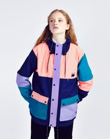 Lazy Oaf Pink Panelled Mac Jacket