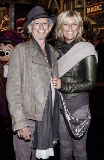 Musician and model couples Kieth Richards and Patti Hansen