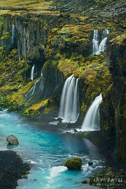 Waterfalls in the Valley of Tears, Iceland.
