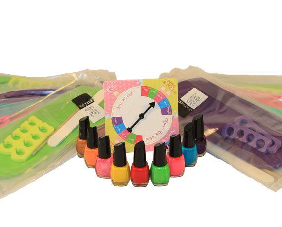 Spa Birthday Party Game-Rainbow Pedicure by cakenotincludedparty