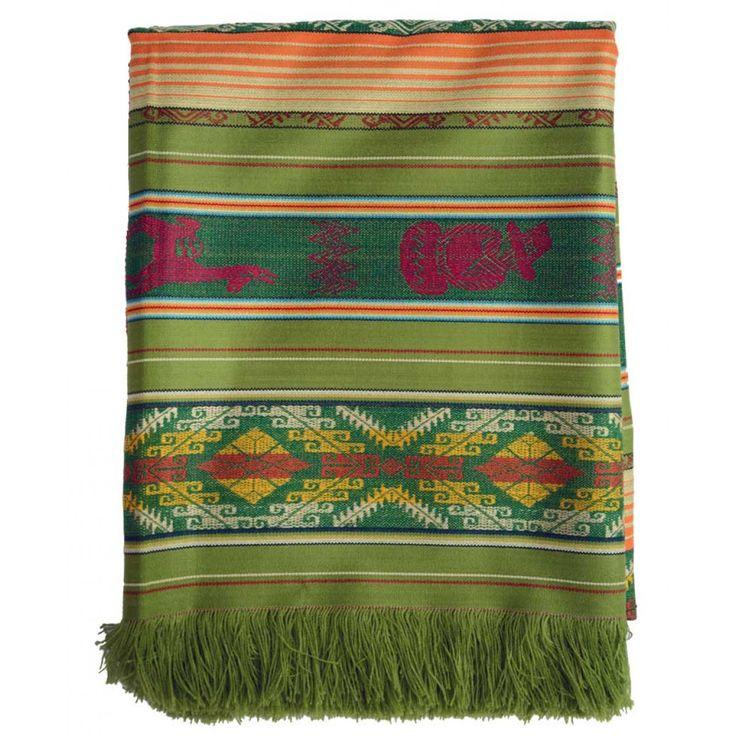 Nappe de table d'Équateur - Grand Format - Verte-clair