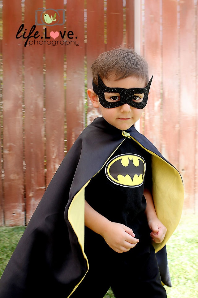Batman costume. $37.00, via Etsy.