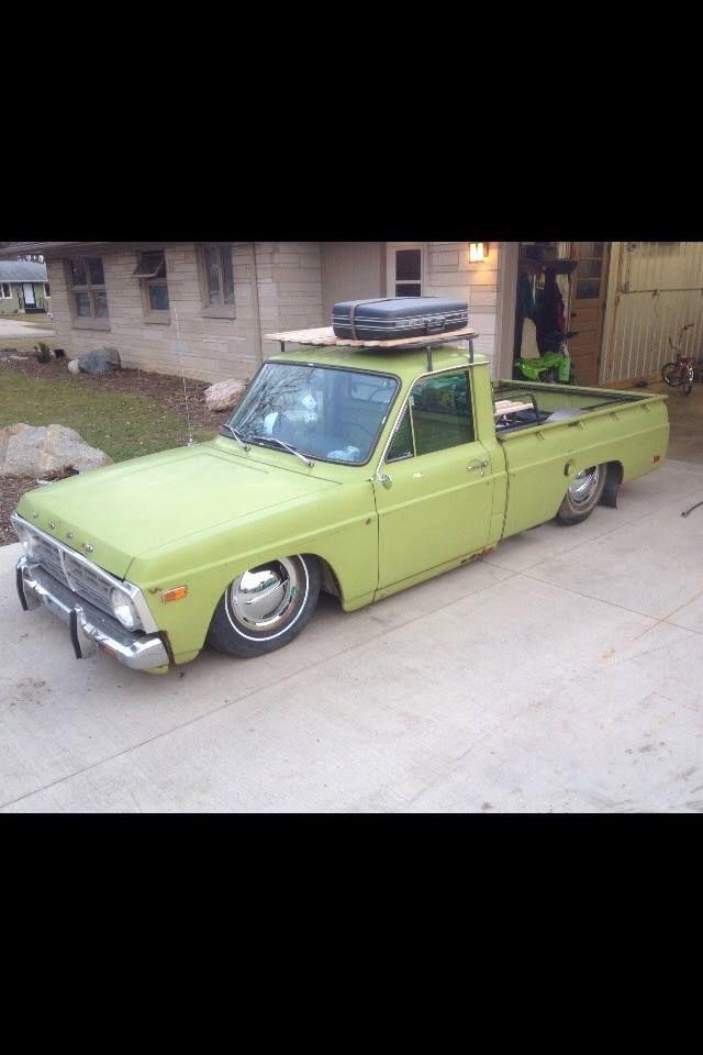 Custom Ford Courier mini truck slammed over custom tube work and rocking a sweet custom roof rack Pic 1