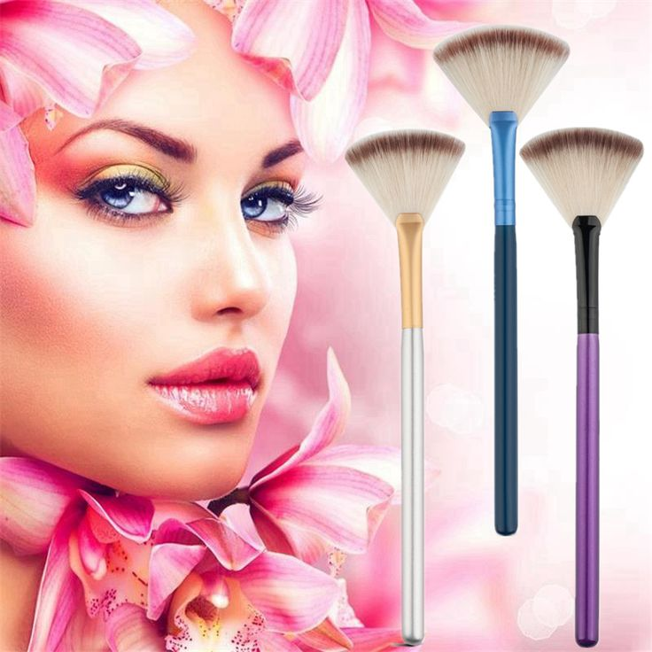 Strumenti di cosmetici Accessori Ventaglio Pennello Trucco Highlighter Face Powder Brush 1 Pz Per Viso Make Up
