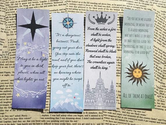 6 Printable Bookmarks // The Lord of the Rings // The ...