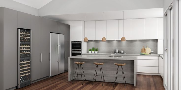 Multi-toned and textured kitchen concept. Mosman, NSW.