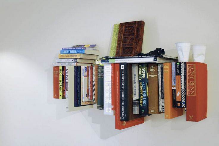 Old books, new books. Bookshelf made of books by Not Tom
