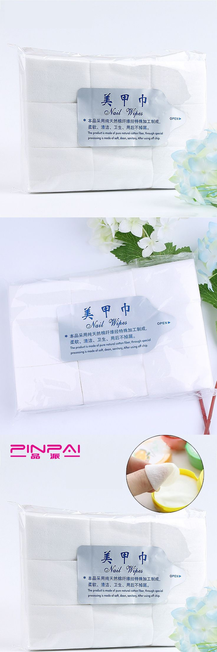 700pcs/Pack Nail Tools Bath Manicure Gel Nail Polish Remover Lint-Free Wipes Cotton Napkins For Nails Remover Cotton 6*4.3cm