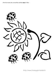 Le coin des petits | Maternelle Cycle 1: Les coccinelles sous la fleur : topologie cycle 1