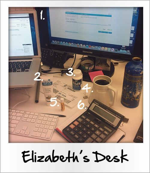 What's On A #Birchbox Staffer's Desk: Accountant, Elizabeth: Offices Desks, Staff Desks, Desks Ideas, Blog Ideas, Reading Lists, Birchbox Staffer, Staffer Desks