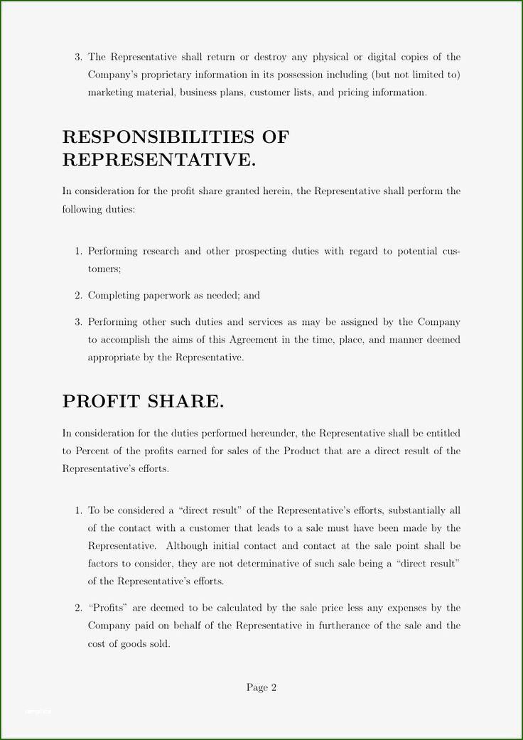 Amazing Revenue Sharing Agreement Template 2020 in 2020