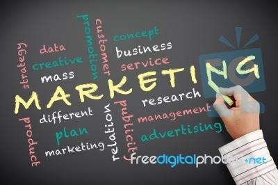 "Marketing Concept On Blackboard ""Image courtesy of KROMKRATHOG / FreeDigitalPhotos.net"""