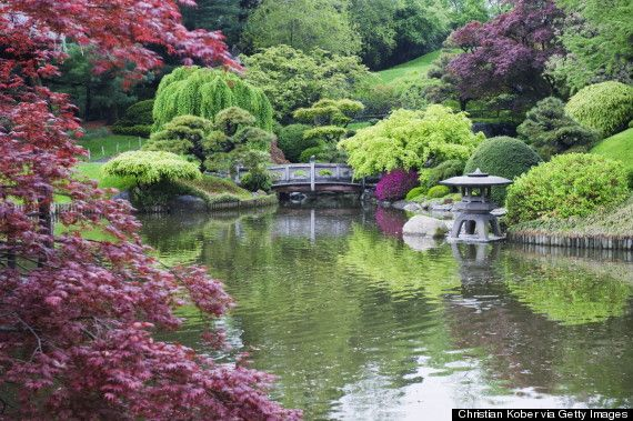 The Brooklyn Botanic Garden - Prospect Heights, Brooklyn - A highlight of these 52 acres is the Japanese Garden, where cherry trees bloom every spring. Hunting for waterfalls and turtle-watching on the pond are stellar ways to spend an afternoon.