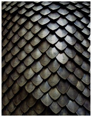 How to DIY etched bronze scale mail armor