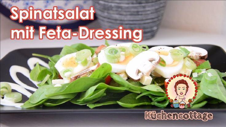 Ich hab für euch das Rezept für einen frischen Spinatsalat mit würzigem Feta-Dressing. Ein guter Start in den Frühling, findet ihr nicht? :-)  https://youtu.be/Ogi-AGKFmyw  Das Rezept könnt ihr auch hier ausdrucken: http://kuechencottage.de/frischer-spinatsalat/  #spinatsalat #rezept #salat #gesund #lecker #leicht #küche #rezeptideen #foodporn #spinat #feta #dressing #feta-dressing #salatsoße #frühling #lowcarb #low #carb