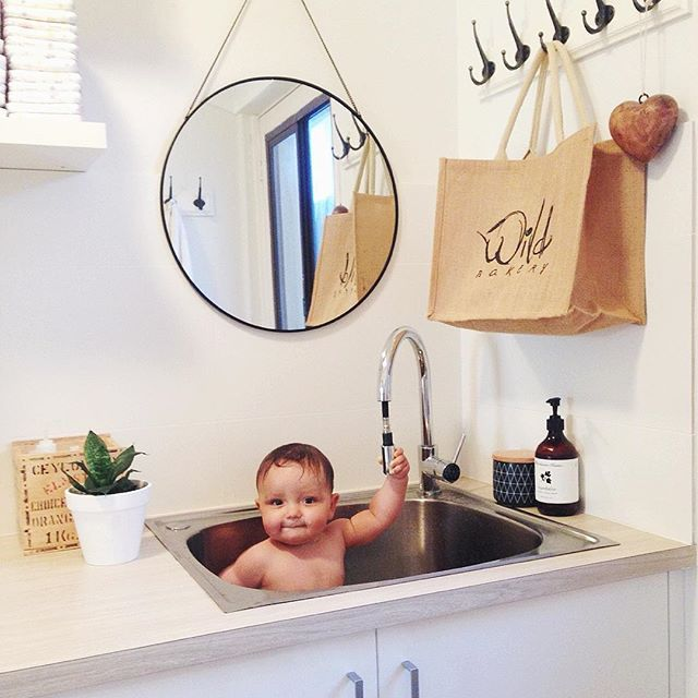 our little laundry reno.