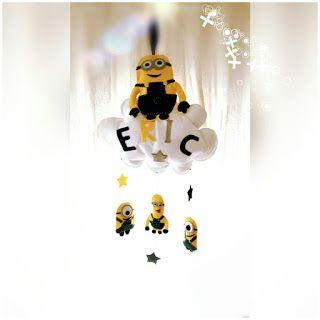 POIANA CU GAZUTZE: Decoratiune personalizata camera bebe Eric #fetru #handmade #craciun #cadou #moscraciun #jucarie #coronita #mosnicolae #sarbatori #decoratiuni #ornamente #felt #christmas #ornaments #decorations #toys #christmastree #santa #gift