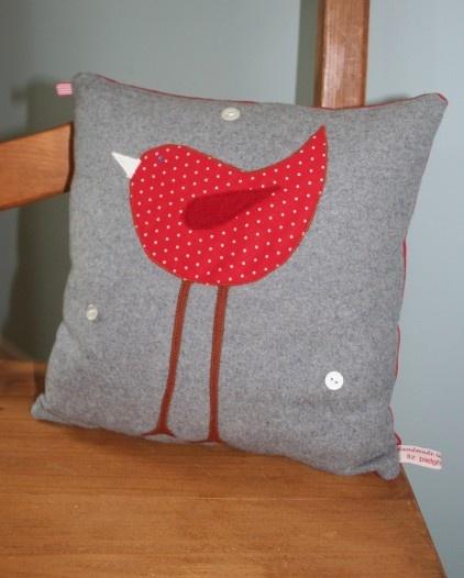 Robin Cushion by Liz Padgham-Major