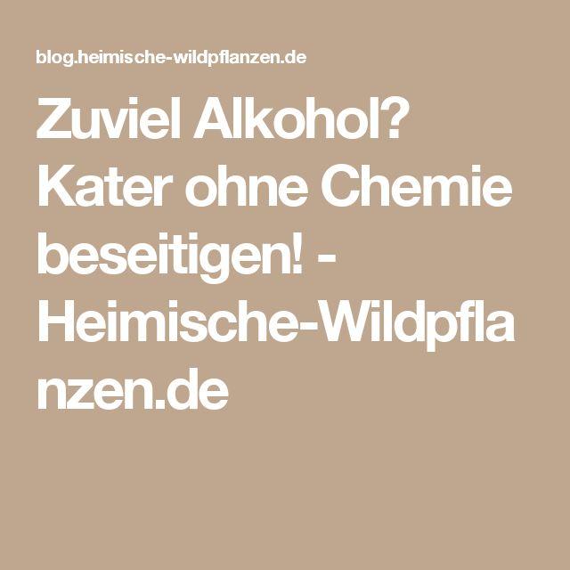 Zuviel Alkohol? Kater ohne Chemie beseitigen! - Heimische-Wildpflanzen.de