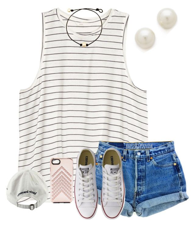 """happy saturday ✨"" by mmadss ❤ liked on Polyvore featuring H&M, Converse, Rebecca Minkoff, Vineyard Vines and Kenneth Jay Lane"