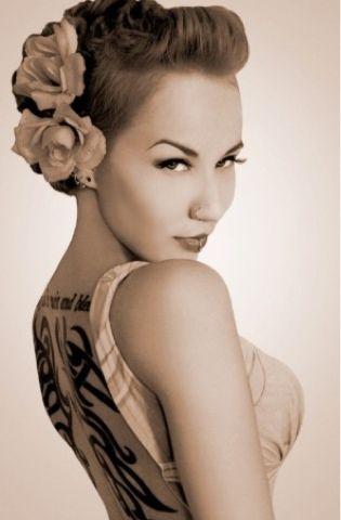 Pin up hair. Faux hawk/ ideas rockabilly wedding