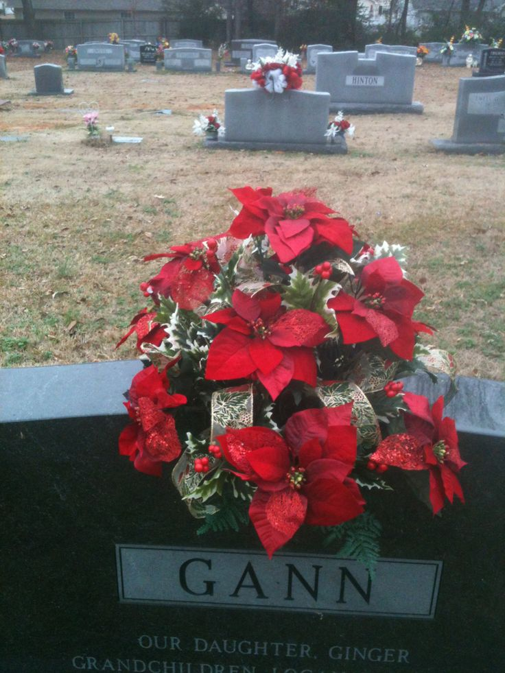 75 Best Cemetery Decorations Poinsettia Images On