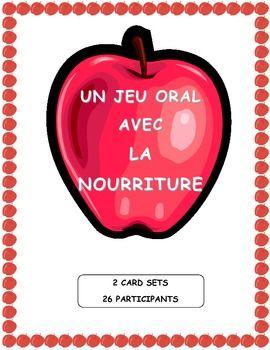 Pratiquez la nourriture en classe avec le cercle magique!  Un jeu pour la production orale. (CEFR)